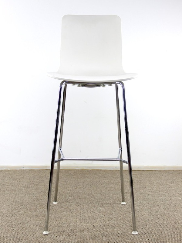 Vitra hall ply stool white